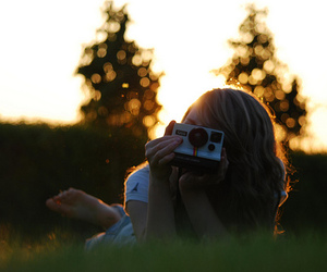 girl and photography image