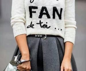 fashion, skirt, and grey image