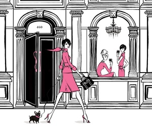 pink, chanel, and illustration image