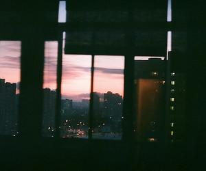 city, window, and light image