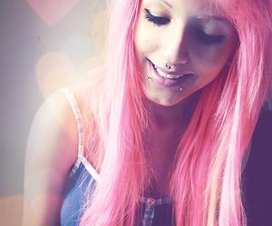 girl, pink hair, and lindsay woods image