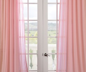 pink, window, and curtains image