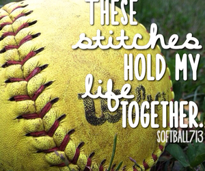 quote, quotes, and softball image