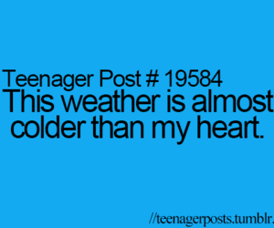 weather, cold, and heart image