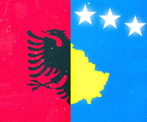 flags, kosovo, and albania image