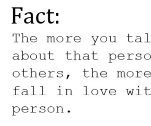fact, fall in love, and love image