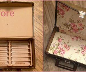 case, floral, and old image
