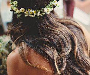 brown, curly hair, and hippie image