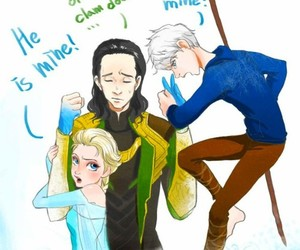 frozen, elsa, and loki image