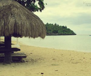 beach, camotes island, and cottage image