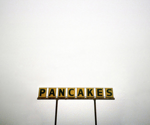 pancakes, photography, and sign image