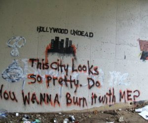 hollywood undead, city, and burn image