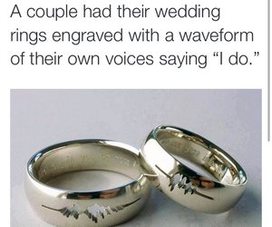 beautiful, couple, and rings image