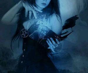 witch, wicca, and pentacle image