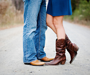 country, couple, and boots image