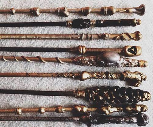 harry potter, wand, and magic image