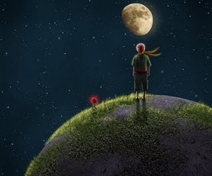 little prince and rose image