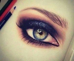 draw, eyes, and girl image