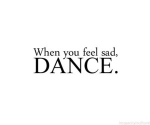 dance, text, and sad image