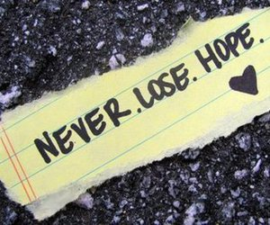 hope, never, and lose image