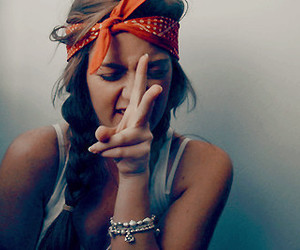 girl, peace, and bandana image