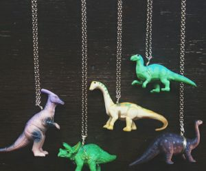 dinosaur, necklace, and toy image