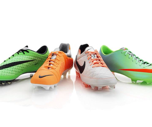 boots, football, and green image