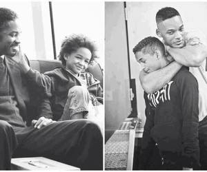 will smith, jaden smith, and son image