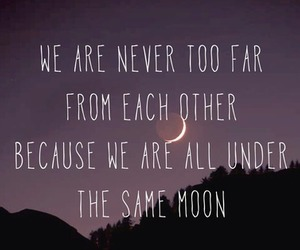 love, quote, and moon image