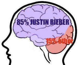 one direction, justin bieber, and brain image