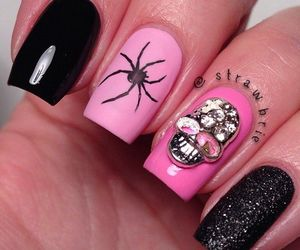 nails, spider, and pink image