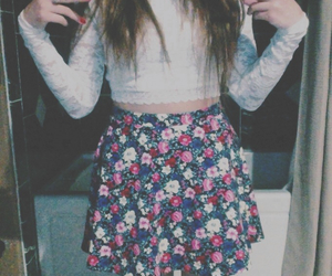 clothes, floral, and floral skirt image