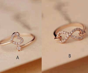 heart, rings, and fashion image