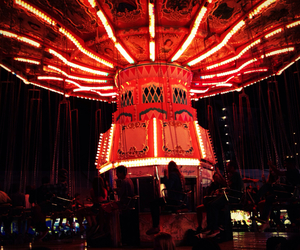 amusement park, carnival, and light image