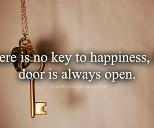 key, quote, and happiness image