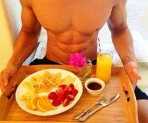 abs, boy, and breakfast image