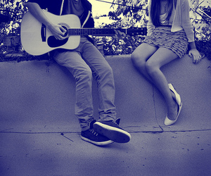 boy, guitare, and romantic image