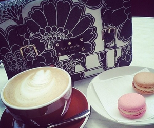 coffee, delicious, and macaroons image