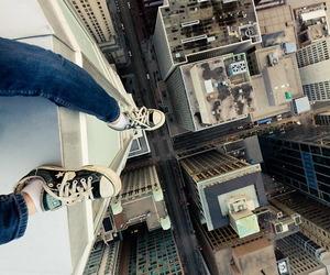 city, jump, and converse image