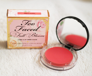 too faced, blush, and girly image