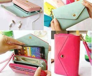 bag, phone, and pink image