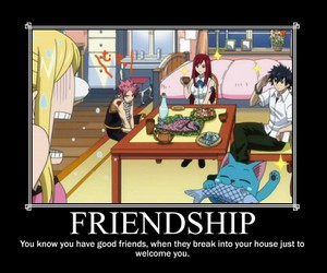 fairy tail, Lucy, and friendship image
