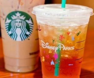 starbucks, disney, and drink image
