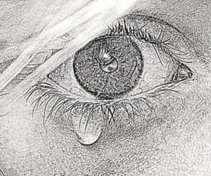 black and white, cry, and white image