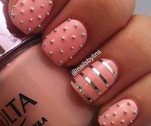 fashion, nails, and peach image