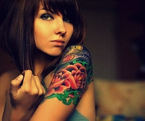 girl, pretty, and Tattoos image