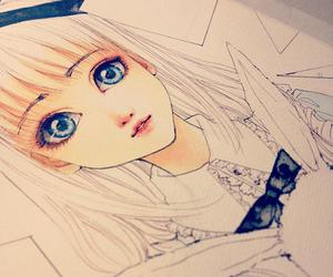 girl, anime, and cute image