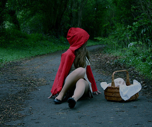 girl, red, and little red riding hood image