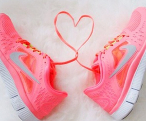 fitness, heart, and nike free run image