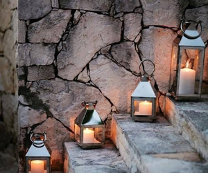 lantern, road, and stairs image